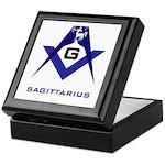 Masonic Sagittarius Sign Keepsake Box