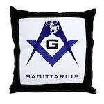 Masonic Sagittarius Sign Throw Pillow