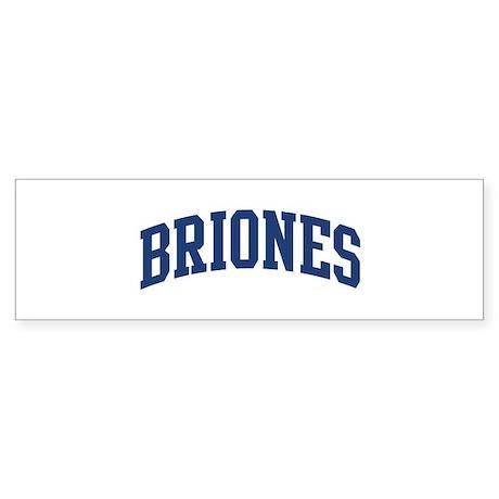 BRIONES design (blue) Bumper Sticker