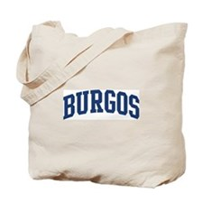 BURGOS design (blue) Tote Bag