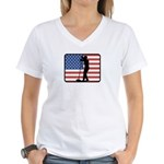 American Sing Women's V-Neck T-Shirt