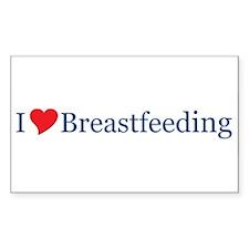 I Love Breastfeeding Rectangle Decal