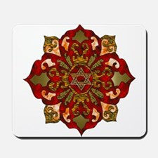 Red Hanukkah Mandela Mousepad
