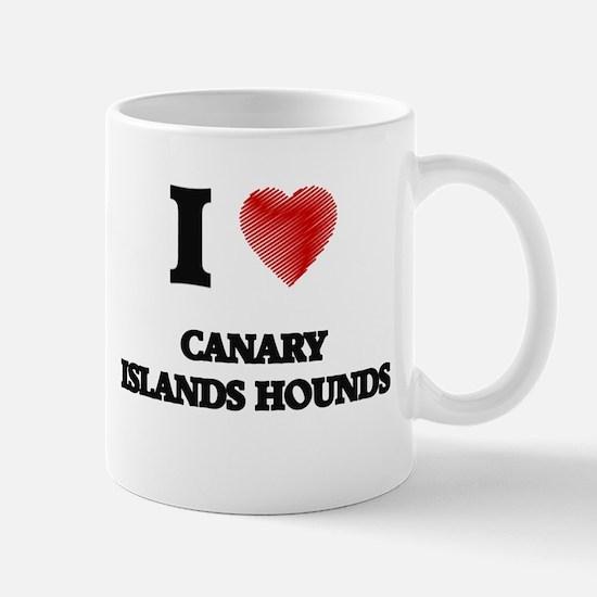 I love Canary Islands Hounds Mugs