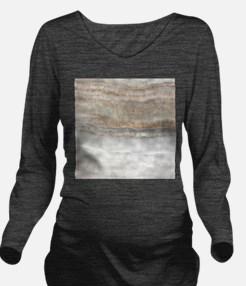 abstract chic white Long Sleeve Maternity T-Shirt