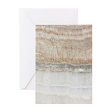 abstract chic white marble Greeting Cards
