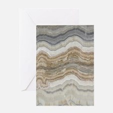 Chic neutral marble swirls Greeting Cards