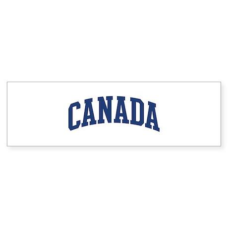 CANADA design (blue) Bumper Sticker