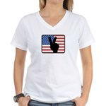 American Peace Women's V-Neck T-Shirt