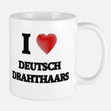 I love Deutsch Drahthaars Mugs