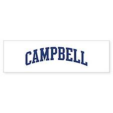 CAMPBELL design (blue) Bumper Bumper Sticker