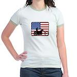 American Motocycle Riding Jr. Ringer T-Shirt