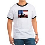 American Motocycle Riding Ringer T