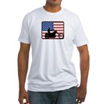 American Motocycle Riding Fitted T-Shirt