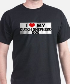I Love My Dutch Shepherd Dog Ash Grey T-Shirt