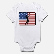 American Mens Volleyball Infant Bodysuit