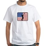 American Mens Volleyball White T-Shirt
