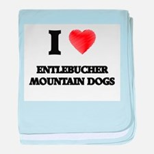 I love Entlebucher Mountain Dogs baby blanket