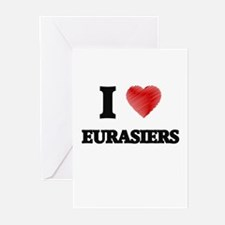I love Eurasiers Greeting Cards