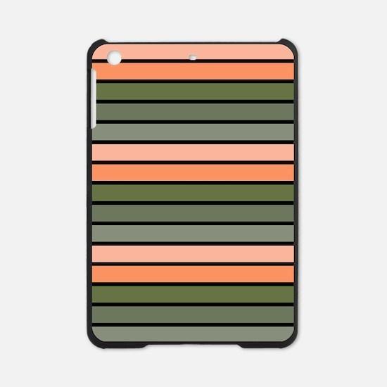 Multicolored Stripes: Pink, Peach, iPad Mini Case