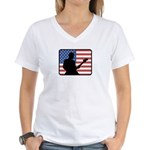 American Guitar Women's V-Neck T-Shirt