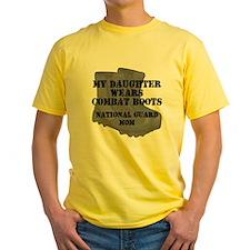 National Guard Mom Daughter Combat Boots T-Shirt