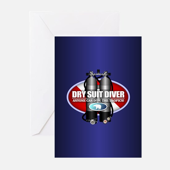 Dry Suit Diver (ST) Greeting Cards