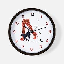 Mistress Kitty's Thigh High Boots Wall Clock