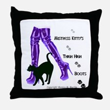 Mistress Kitty's Thigh High Boots Throw Pillow