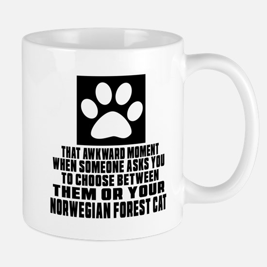 Awkward Norwegian Forest Cat Cat Design Mug