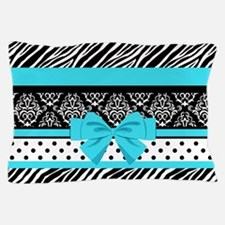 Safari: Turquoise Pillow Case