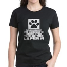 Awkward LaPerm Cat Designs Tee