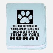 Awkward Korat Cat Designs baby blanket