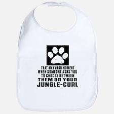 Awkward Jungle-curl Cat Designs Bib