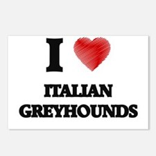 I love Italian Greyhounds Postcards (Package of 8)