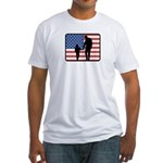 American Fatherhood Fitted T-Shirt
