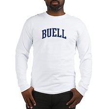 BUELL design (blue) Long Sleeve T-Shirt