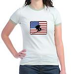 American Downhill Skiing Jr. Ringer T-Shirt