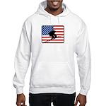 American Downhill Skiing Hooded Sweatshirt
