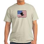 American Downhill Skiing Light T-Shirt