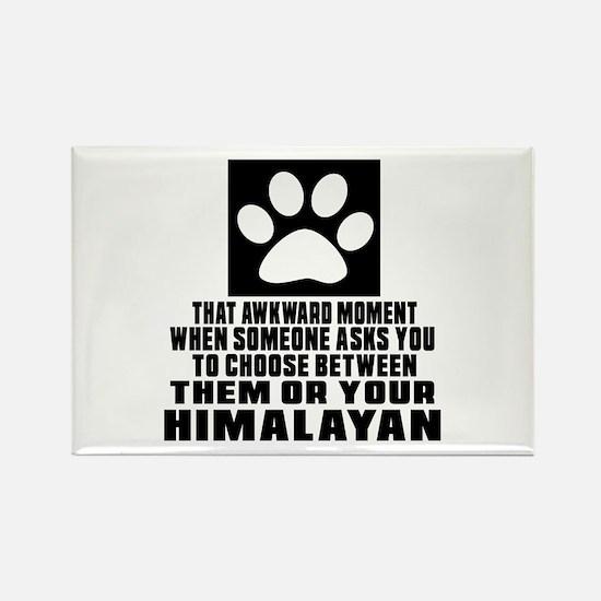 Awkward Himalayan Cat Designs Rectangle Magnet