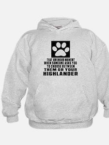 Awkward Highlander Cat Designs Hoodie
