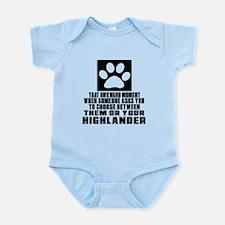 Awkward Highlander Cat Designs Infant Bodysuit
