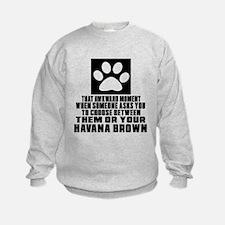 Awkward Havana Brown Cat Designs Sweatshirt