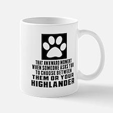 Awkward Highlander Cat Designs Mug