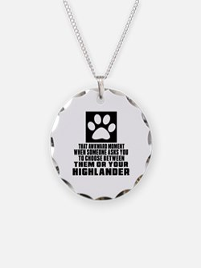 Awkward Highlander Cat Desig Necklace