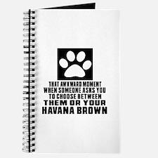Awkward Havana Brown Cat Designs Journal