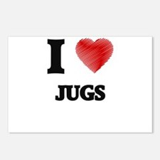 I love Jugs Postcards (Package of 8)