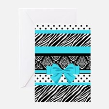 Safari: Turquoise Greeting Card