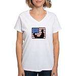 American Computer Geek Women's V-Neck T-Shirt